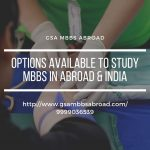 Options to Study MBBS in Abroad and India